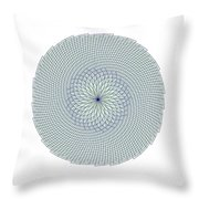 Fibonacci Web Throw Pillow