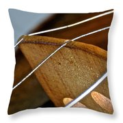Fiddle Strings Throw Pillow