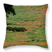 Field Of Poppies. Throw Pillow