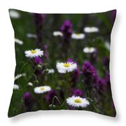 Field Of Spring Flowers Throw Pillow