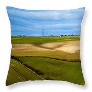 Field Patterns Throw Pillow