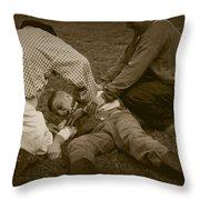 Field Repair Throw Pillow