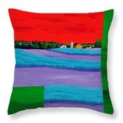 Fields Of Green Throw Pillow by Randall Weidner