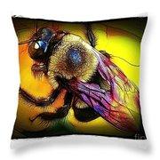 Fierce Bumblebee Throw Pillow
