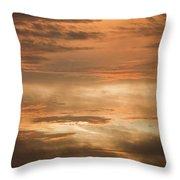 Fiery Atlantic Sunrise 2 Throw Pillow
