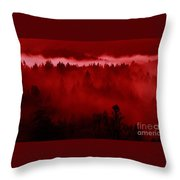 Fiery Forest  Throw Pillow