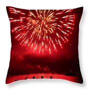 Fiery Fourth Throw Pillow
