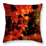 Fiery Ladies Throw Pillow