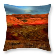 Fiery Painted Hills Throw Pillow