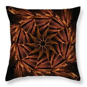 Fiery Pinwheel Throw Pillow