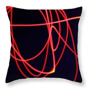 Fiery Red Light Strings Throw Pillow