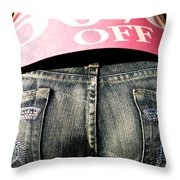 Fifty Percent Off Throw Pillow