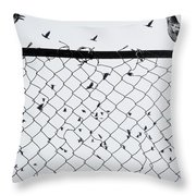 Fight Among Our Wings Throw Pillow