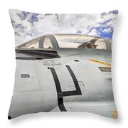 Fighter Jet Cockpit Throw Pillow