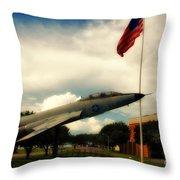 Fighter Jet Panama City Fl Throw Pillow