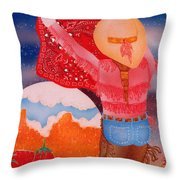 Fighting The Bull Throw Pillow