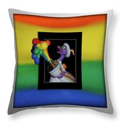 Figments Rainbow Of Colors Throw Pillow