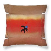Figure In A Landscape Throw Pillow
