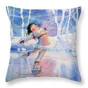 Figure Skater 14 Throw Pillow