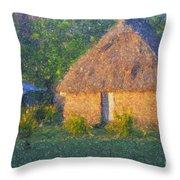 Fijian Bure Throw Pillow