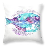 Filet Of Color Throw Pillow