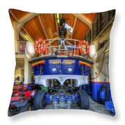 Filey Lifeboat Throw Pillow