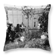 Film: Abraham Lincoln, 1930 Throw Pillow by Granger