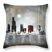 Film Noir Chicago Throw Pillow