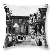 Film Set: Intolerance, 1916 Throw Pillow by Granger