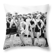 Film Still: Beauty Pageant Throw Pillow