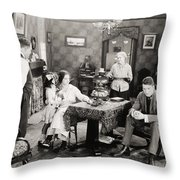 Film Still: Poorhouse Throw Pillow