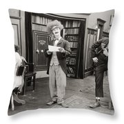 Film Still: Sleuths, 1919 Throw Pillow
