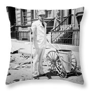 Film Still: Street Cleaner Throw Pillow