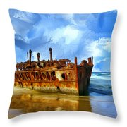 Final Resting Place Throw Pillow by Dominic Piperata