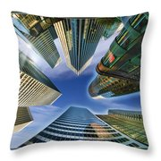 Financial Skyline Throw Pillow
