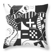 Finding The One Big Plus Throw Pillow