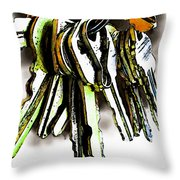 Finding The Right Key Throw Pillow