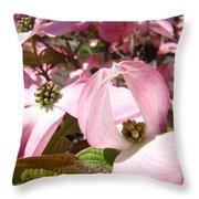 Fine Art Prints Pink Dogwood Flowers Throw Pillow