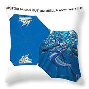 Fine Art Umbrellas Throw Pillow