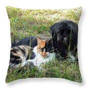 Fine Friends Throw Pillow