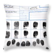 Fingerprint Identification Application Throw Pillow