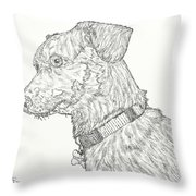 Finn In Black And White Throw Pillow