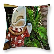 Fins To The Left Throw Pillow by Joan  Minchak
