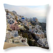 Fira In Santorini Throw Pillow