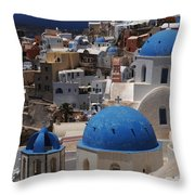 Fira Santorini Throw Pillow