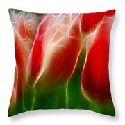 Fire And Ice Fractal Panel 1 Throw Pillow