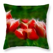 Fire And Ice Fractal Panel 2 Throw Pillow