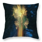 Fire Angel Throw Pillow