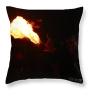 Fire Blower Throw Pillow