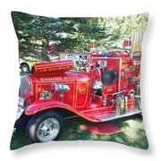 Fire Bug Throw Pillow